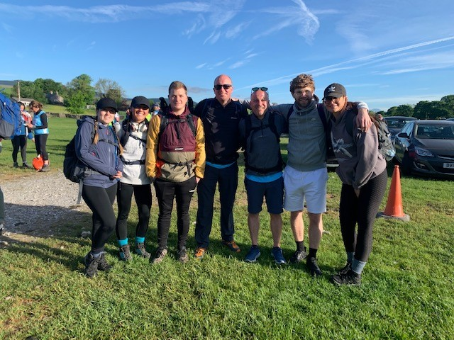 Team TritonTrak complete the Yorkshire Three Peaks Challenge for Martin House Hospice